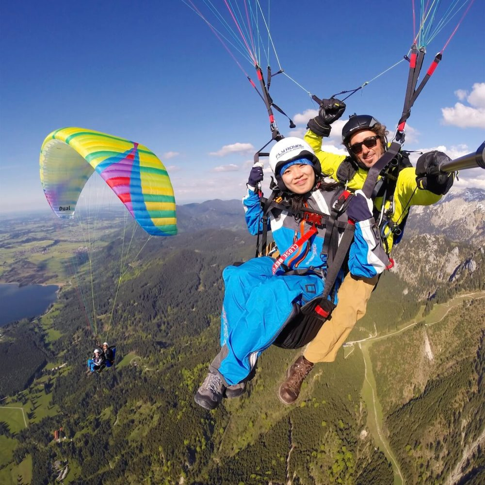 tandem gleitschirm pärchenflug mit fly royal paragliding.