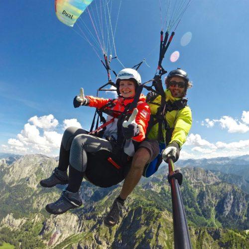 tandem gleitschirm fliegen am tegelberg mit fly royal paragliding.